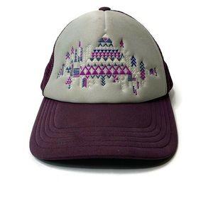 The North Face Purple Trucker Baseball Hat Cap